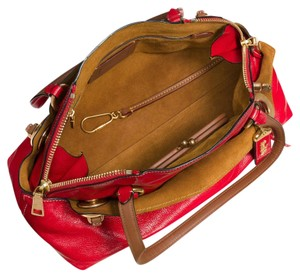 Coach Leather Leather Grain Leather Satchel in Red