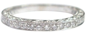 Other 18Kt Round Cut Diamond Band Ring WG .65Ct Sz 7