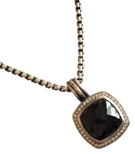 David Yurman Albion pendant with Black Onyx and diamonds, 14mm stone, 18mm overall, PLUS 17