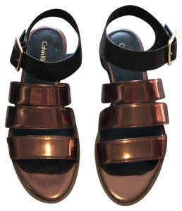 Calvin Klein bronze and black Sandals