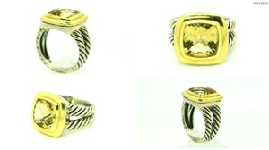 David Yurman David Yurman Albion Lemon Citrine 11mm 18k Gold & Sterling Silver Ring