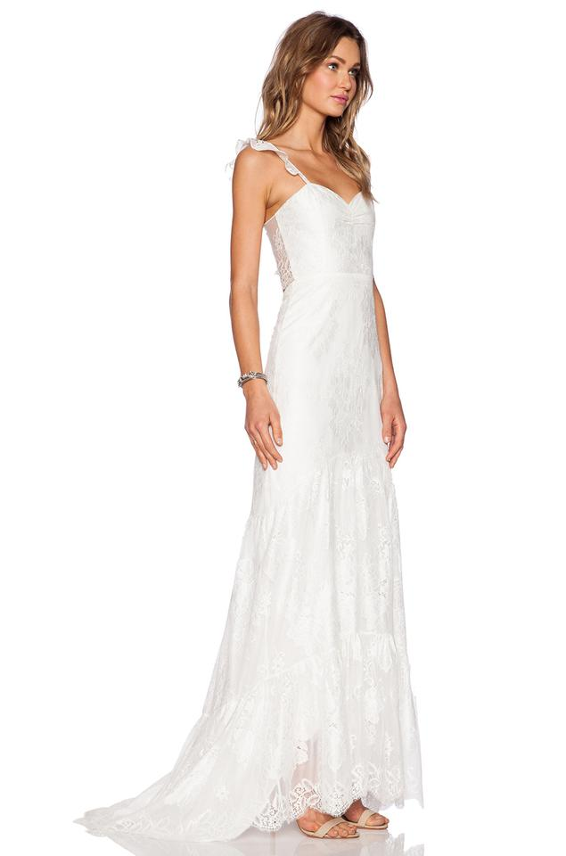 For Love Lemons White Gillian Formal Wedding Dress Size 0 Xs 12