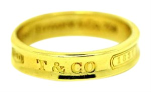 Tiffany & Co. Tiffany&co 18kt Yellow Gold Band Ring 1997 Large Size 13 Band 6mm