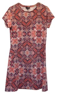 The Limited Short Sleeve Print Shift Dress
