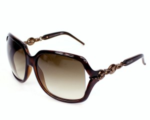 Gucci NEW Gucci Sunglasses Havana 3584 Brown Oversized Chain