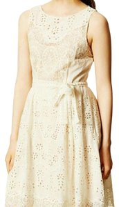 Anthropologie short dress white Lace Summer Floral Flowy Beach on Tradesy