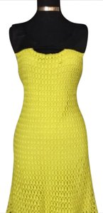 Gianni Bini short dress Black and Neon Yellow on Tradesy
