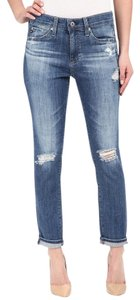 AG Adriano Goldschmied Tomboy Distressed Boyfriend Cut Jeans-Distressed