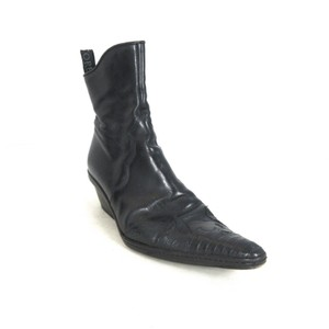 Sartore Leather Ankle Western Black Boots