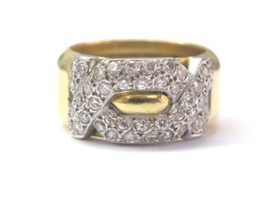 Other Fine 18K Designer Diamond Pave Ring Yellow Gold 1.00CT