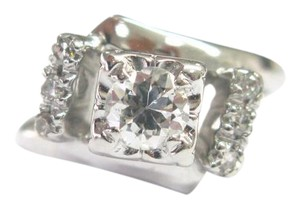 Other Fine Old European Cut Diamond Engagement Jewelry Ring .55Ct