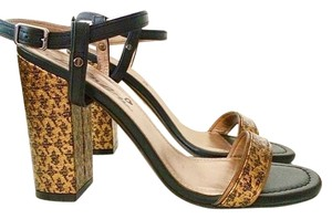 Lanvin Gold And Black Sandals