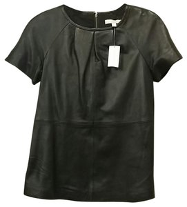 Banana Republic Br Leather Edgy Top Black
