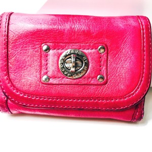 Marc by Marc Jacobs Marc by Marc Jacobs Hot Pink Red Bifold Leather wallet