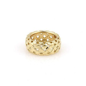 Tiffany & Co. Vannerie 18K Yellow Gold 9mm Basket Woven Ring - Size 5