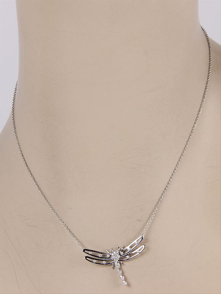 Tiffany co platinum diamond dragonfly pendant w pouch necklace platinum diamond dragonfly pendant necklace w pouch 123456 mozeypictures