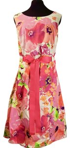 Pink Maxi Dress by Other Floral Sleeveless Ribbon Flowy Bright