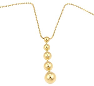 Tiffany & Co. 18K Yellow Gold Bead Drop Pendant Necklace