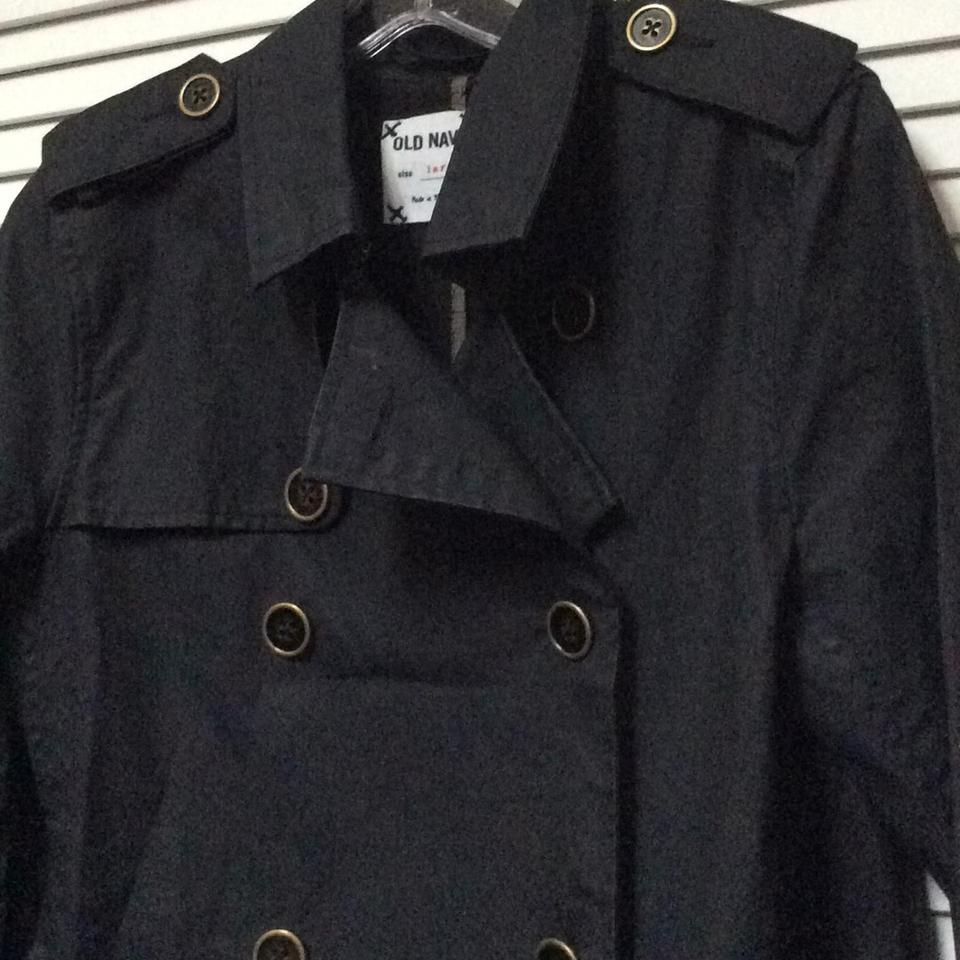 50b40628a8797 Old Navy Black Trench Coat Size L Jacket