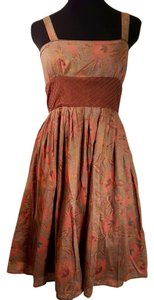 Banana Republic short dress Brown Floral Sleeveless Empire Waist Flowy on Tradesy