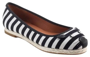Marc by Marc Jacobs Striped - Black/Oatmeal Flats