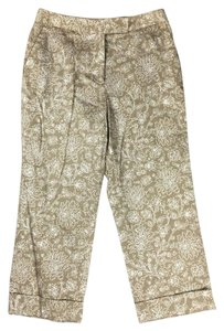 Charter Club Katherine Fit Relaxed Fit Sits At Waist Pockets Capris Beige
