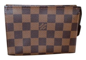 Louis Vuitton RARE Louis Vuitton DAMIER EBENE Toiletry 15 Cosmetic Bag Pouch Clutch