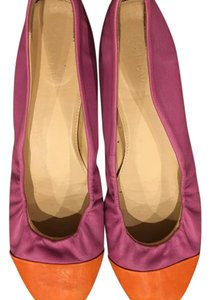 J.Crew Purple with an orange toe Flats