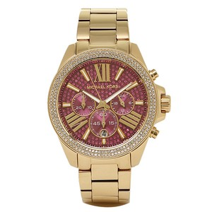 Michael Kors New In Box Wren Chrono Pink Crystal Pave Gold-tone Ladies Watch MK6290