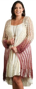 Umgee Long Crochet Ombre Duster Cardigan