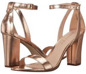 bf90c95de4b Madden Girl Block Heel Chunky Heel Strappy Metallic Rose Gold Formal