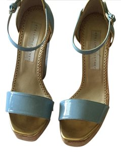 Stella McCartney Sky blue and gold Wedges