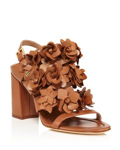 Tory Burch Blossom Flower Tan Sandals