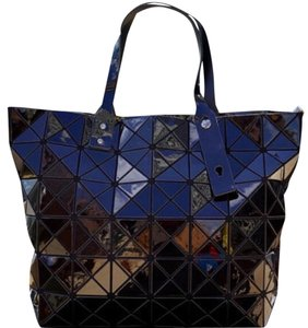 Issey Miyake Tote in Black, Navy, Yellow, Silver