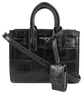 Saint Laurent Sac De Jour Crocodile Mini Cross Body Bag