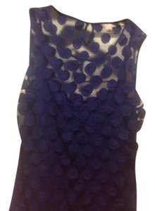 Banana Republic Sleeveless Sheer With Cami Like New Top Sapphire blue