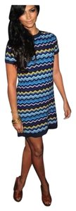 Missoni short dress blue on Tradesy
