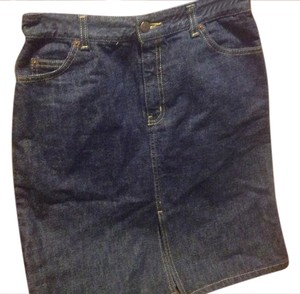 The Limited Kike New Many Details. Great Price Mini Skirt Dark rinse denim