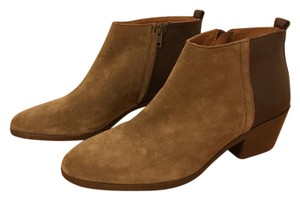 Madewell Ankle Leather Suede Unworn Brown Boots