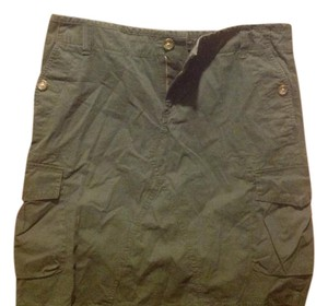 Banana Republic And Cargo Style Mid Length New With Tags Skirt Green gray combo
