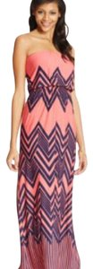 hot pink and Navy Blue Maxi Dress by Trixxi