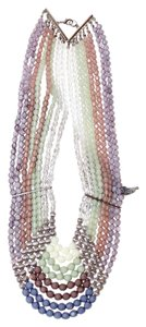 Lydell NYC Multi-Row Beaded Statement Necklace