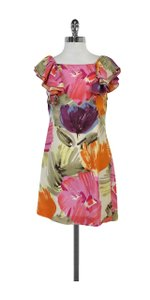 BCBGMAXAZRIA short dress Pink Orange Abstract Print on Tradesy