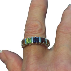 Lord & Taylor 925 sterling silver multi Gem Ring