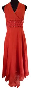 Donna Ricco Formal Prom Halter Flowy Silk Dress