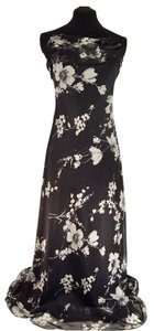 Cache Formal Prom Strapless Floral Full Length Dress