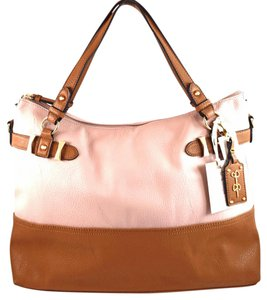 Jessica Simpson Tote in pink blossom/cognac brown