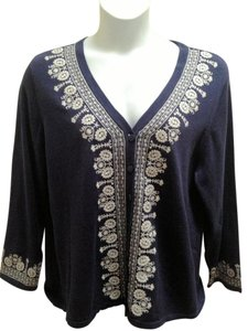 Cynthia Rowley Embroidered V-neck Cardigan
