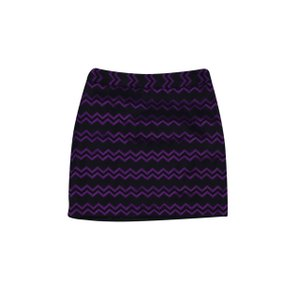 MILLY Black Chevron Print Skirt