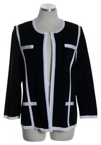 Misook Long Sleeve Knit Black Jacket